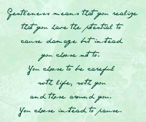 gentleness quote