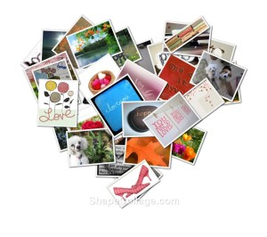 heart collage by Helen