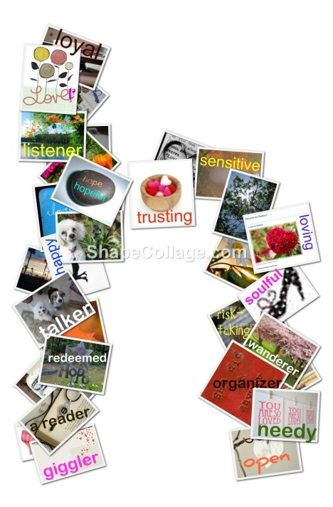letter h collage