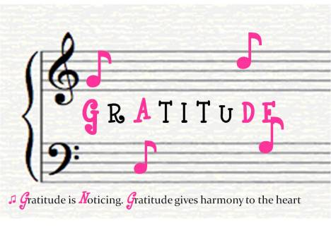 gratitude is the harmony of the heart