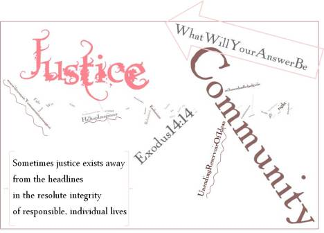 Justice Word Art