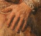 Rembrandt The Prodigal masculine hand