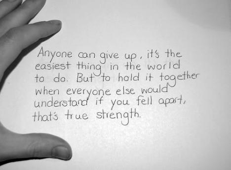 anyone can give up