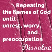 repeating the names of God