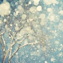 blue snowy sky