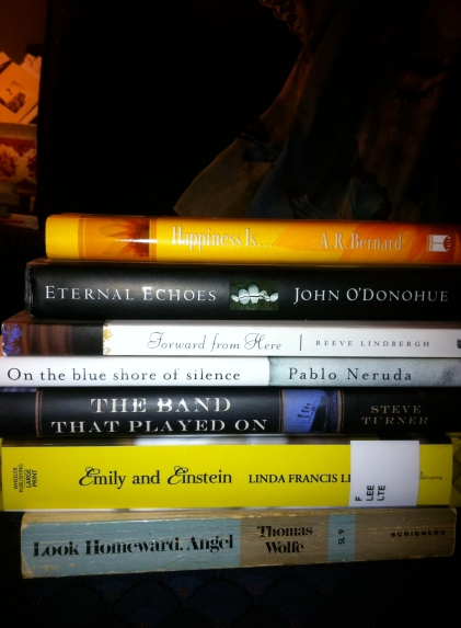 spine poetry Helen Teague