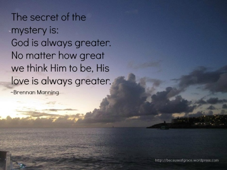 God is always greater