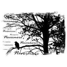 nevermore raven silhoutette
