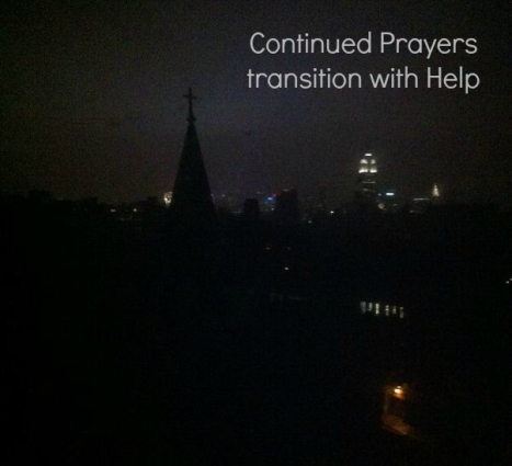 prayers continue transition with help