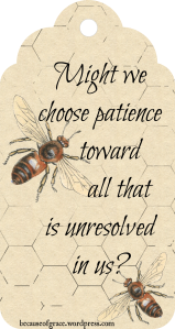 choose patience