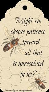 choose patience