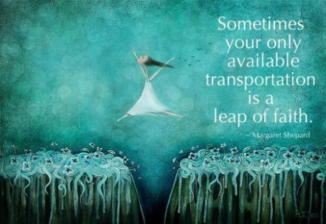 leap of faith from Jean Wise wall