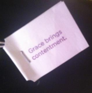 grace brings contentment