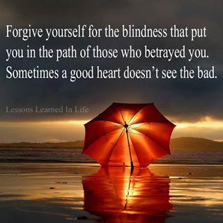 let God's forgiveness in