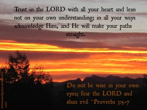 Proverbs 3:5-7