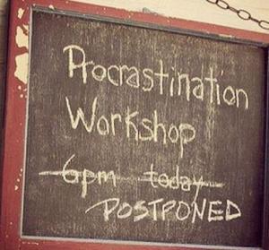 postpone
