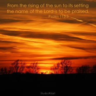 Psalm 113: 3