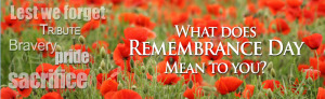 What does Remembrance Day mean to you?